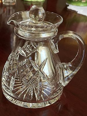 Stuart Crystal Glengarry Condiment Jug oil Vinegar Dressings with stopper