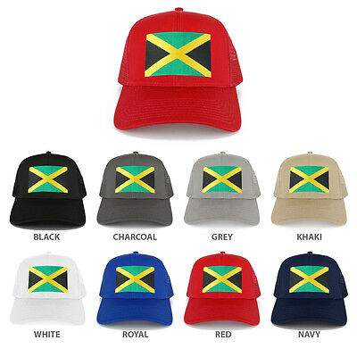Large Jamaican Flag Embroidered Iron on Patch Adjustable Baseball Cap