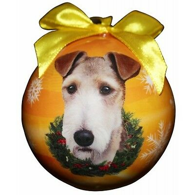 Wire Fox Terrier Shatterproof Ball Dog Christmas Ornament