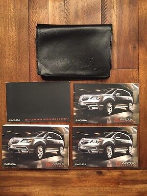 2013 Acura MDX Owner's Manual User Guide With Leather Pouch. Complete Set