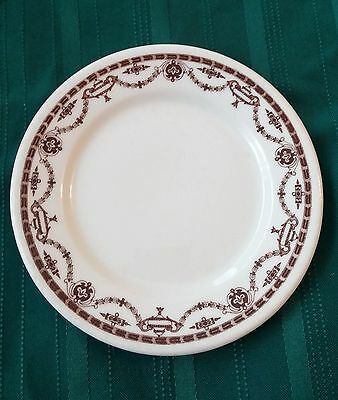 11 Vintage Warwick1947 Restaurant Ware Bread Plates Brown and White