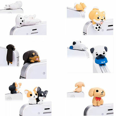 Mobile Phone Universal 3.5mm  Dog Earphone Anti Dust Ear Cap Plug Stopper 1Pc