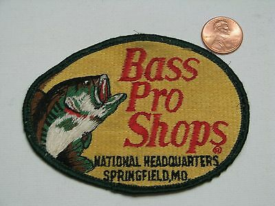 Bass Pro Shops Patch, National Headquarters Springfield MO, fishing, embroidered