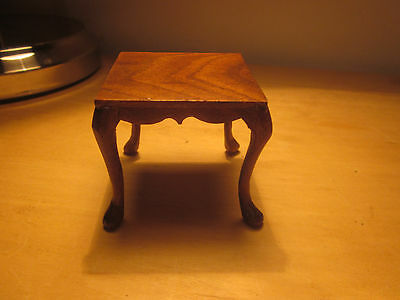 Vintage Dollhouse Miniature Artisan Walnut Square Table Leo Fallert Queen Anne