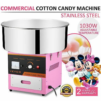 Electric Commercial Cotton Candy Machine / Floss Maker Pink VEVOR Best Price