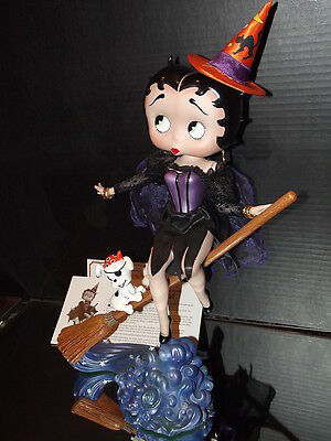 Danbury Mint Betty Boop Be-Witching Holloween Figurine Porcelin Syd Hap