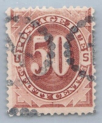 Goldpath Us Classic Stamp  Sc# J7 Used Fine,short Perf At Top Cat Value $90_Us09