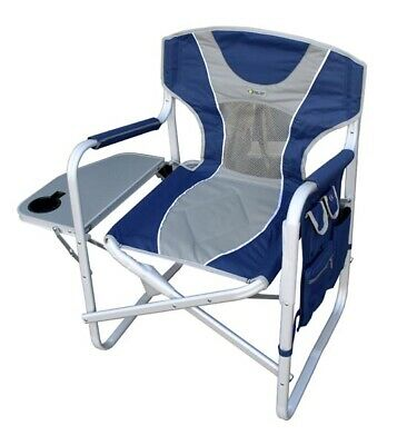 Director Chair Ctc Plyter Matt Blue Grey -Folding Camping Chair