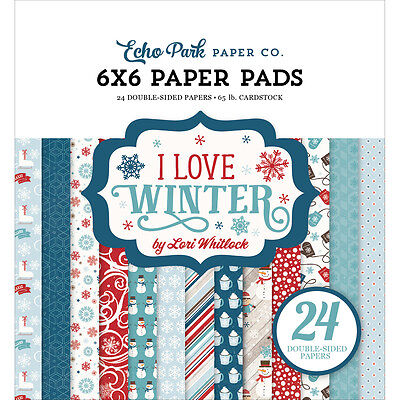 "Echo Park Double Sided Paper Pad 6""X6"" 24/Pkg I Love Winter LW115023"