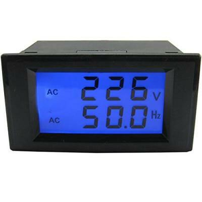 Yeeco AC 80-300V 45-65.0Hz Dual LCD Digital Display Voltage Meter Frequency New