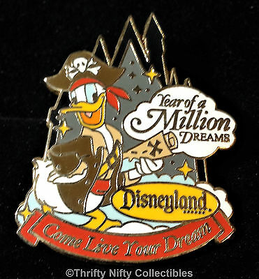 Disney WDTC Travel Year of a Million Dreams Donald Duck as Pirate Pin (UK:59514)