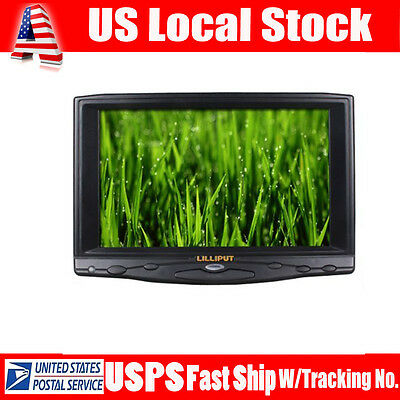 "Lilliput 7"" 619A 1080P on-Camera Field Monitor VGA/HDMI/DVI Input+Remote Control"