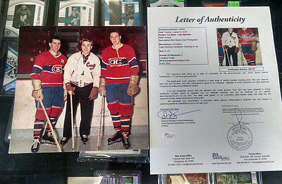 Toe Blake Jean Beliveau Signed Photo Montreal Canadiens HOF JSA Authenticated