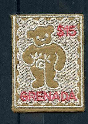 Grenada 2003 MNH Embroidery Teddy Bears 1v Embroidered Stamp
