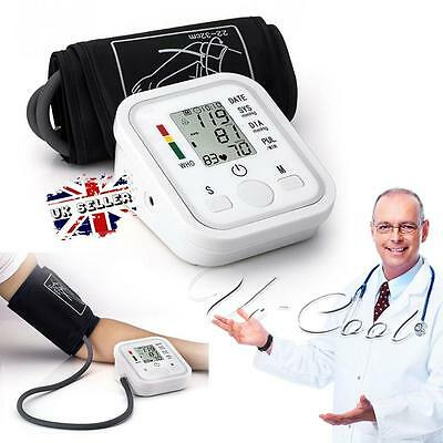 UK AUTOMATIC DIGITAL ARM BLOOD PRESSURE MONITOR WITH STANDARD CUFF 22 - 32 cm