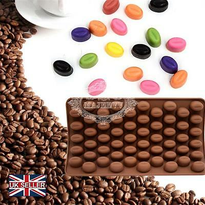 UK Mini Coffee Bean Silicone Mould Fondant Cake Chocolate Candy DIY craft Tool