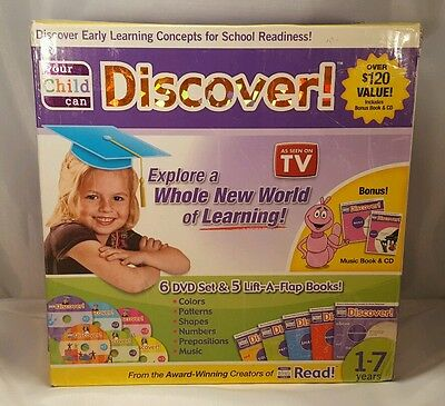 YOUR CHILD CAN DISCOVER Early Learning Concepts for School Readiness Reading Set