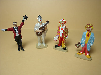 4  Figurines  1/43  Set 181  Clowns  Pinder  Vroom  Unpainted  Direkt Collection