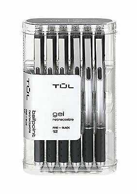 TUL GL1 Gel Pen Retractable FINE POINT 0.5mm  Black 12pk