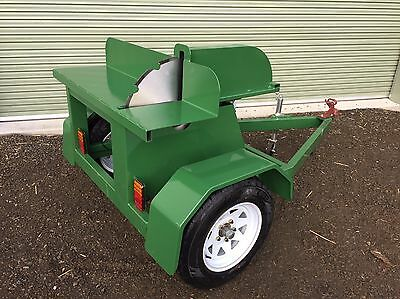 New towable/portable saw bench 9hp 600mm blade firewood