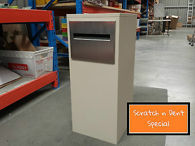 Parcel Letterbox Mail Mailbox Post Evening Haze Parcelbox Cream Stainless Steel