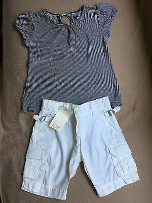 Country Road White Cargo Pants, Size 6-12 months