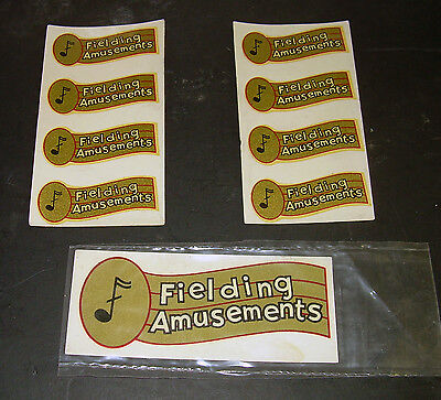Rare Fielding Amusements Jukebox Company Decals