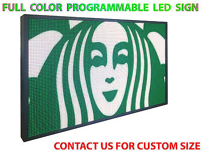 """Led Sign Full Color 12""""x88"""" Programmable Scrolling Outdoor Screen Display Open"""