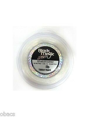 Black Magic Tackle 100Lb Tough Trace Leader Utra Clear Resistant Fishing Line