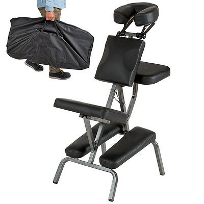 Portable Folding Massage Tattoo Chair Therapy Beauty Stool Adjustable Black