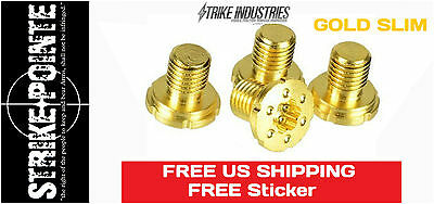 Strike Industries 1911 Torx Grip SLIM Screws 24k Gold Plate 4 Pk Colt 45acp 9mm
