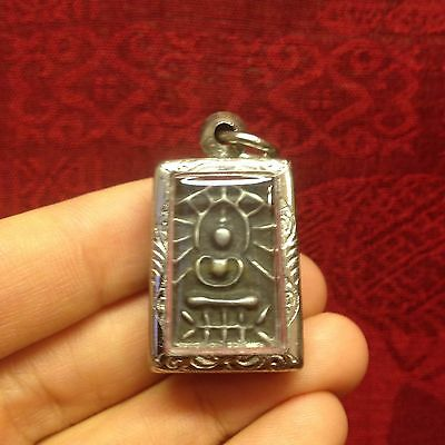 Mini Cute Old Thai Buddha Amulet Talisman Pendant Luck Rich Wealth Protect