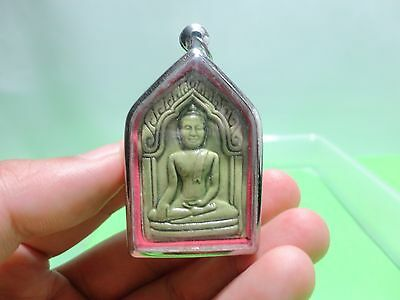Somdej Lp Tim - Green Buddha Amulet Talisman Luck Rich Wealth Happiness Thailand