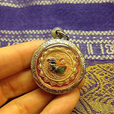 High Quality Kai Chicken Lp Sruang Thai Buddha Amulet Luck Rich Wealth Protect
