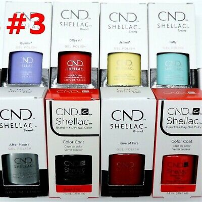 CND Shellac GelColor Nail Polish /Base /Top /Brand New Gel Color #3 - Choose Any