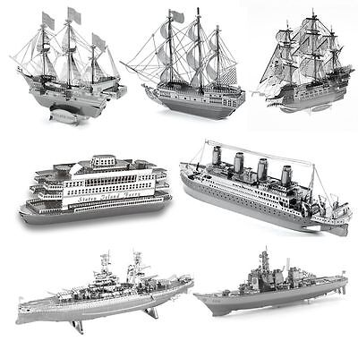 Boat series 3D Metal Model Puzzle Jigsaw Laser Cut Assembly Toys Decorations Hot