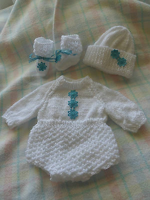 New Hand Knitted Dolls Clothes - Baby Born, Preemie Reborn, 17'' - 18''