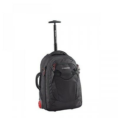 NEW Caribee Travel Fast Track, Lightweight Wheeled Backpack, in Black, 45L