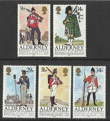 Alderney Set - Regiments of the Alderney Garrison - MNH - 1985