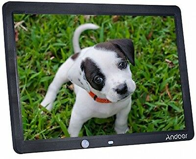 15 inch HD Digital Photo Frame Remote Control Picture Player LED Movie MP4 Clock