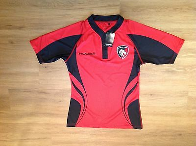 Leicester Tigers Short Sleeve Training Rugby Shirt.