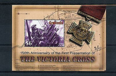 Grenada 2007 MNH Victoria Cross 150th First Presentation 1v S/S Medals Stamps