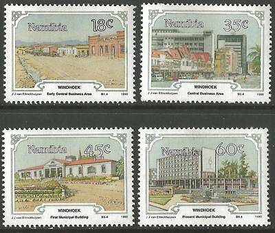 Namibia Stamps 1990 The 100th Anniversary of Windhoek Set of 4 Mounted Mint