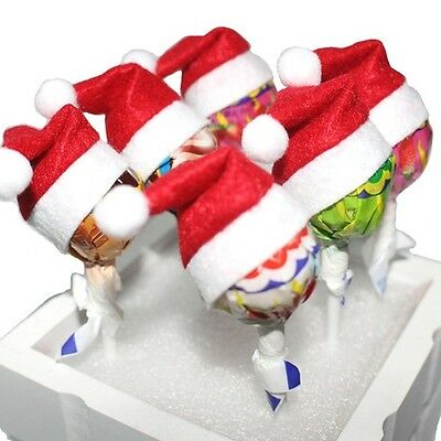 6 Pcs Santa Decor Holiday Christmas Topper Hats Christmas Mini Christmas Hats
