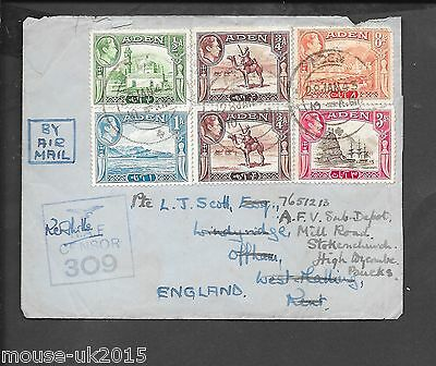 Aden 28.1.1943 Sent From R.a.f.headquarters Steamer Point. Censor 309 Mark