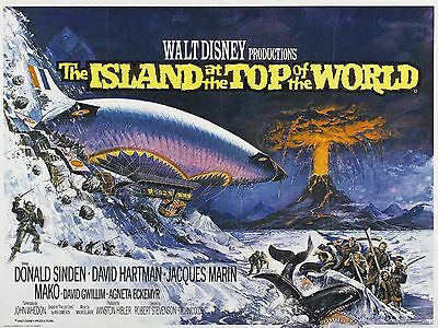 """Island at the top of the World 16"""" x 12"""" Reproduction Movie Poster Photograph"""