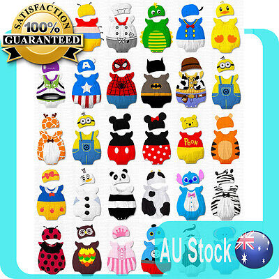 New Baby Boys Girls Animal Onesie Costume Bodysuit Outfit Romper Clothes Set Hat