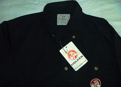 Adult Unisex S Small Size Long Sleeve Black Holden Shirt Bnwt