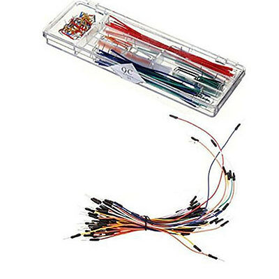140pcs Solderless Breadboard Jumper Wire Line Kit +65pcs Cables For Arduino DIY