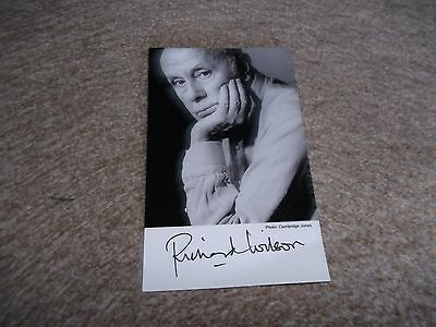 Richard Wilson Hand Signed Cast Card